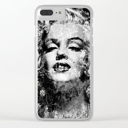 MARILYN (BLACK & WHITE VERSION) Clear iPhone Case