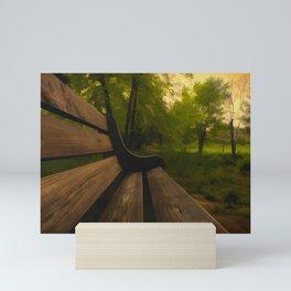 Park Bench Mini Art Print