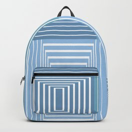Abstract illusion blue lines design Backpack