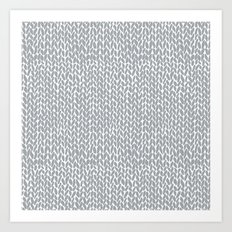 Hand Knit Light Grey Art Print