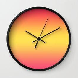 Ombre Anjo Raspberry Gold Gradient Wall Clock