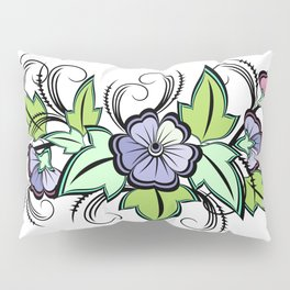 Abstract floral background Pillow Sham