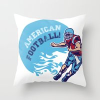 nfl Throw Pillows featuring American Football by Studio|19