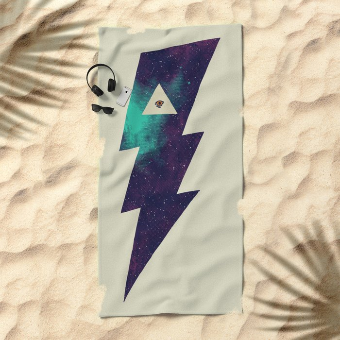 Dark Energy Beach Towel