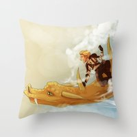 dungeons and dragons Throw Pillows featuring Dragons and Direction: Niall by invisibleinnocence
