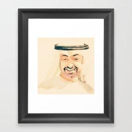sheikh Mohammed bin zayed design art Framed Art Print