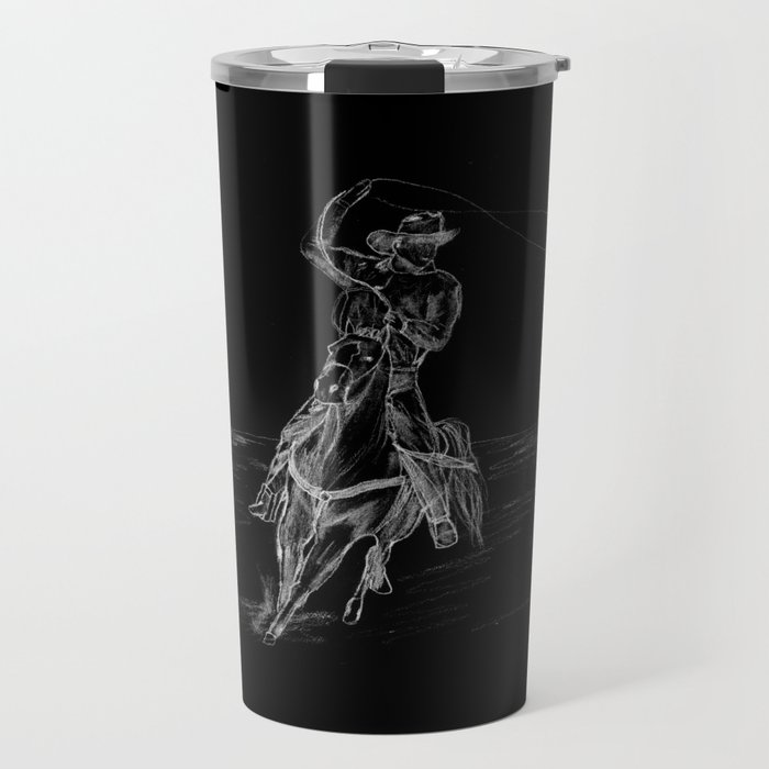 Cowboy Roping Travel Mug