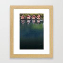 4 HOUSES Framed Art Print