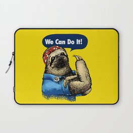 We Can Do It Sloth Laptop Sleeve