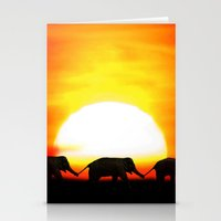 africa Stationery Cards featuring Africa by Selina Morgan