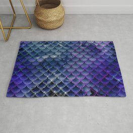 Mermaid Scales Ombre Glitter 7 Rug