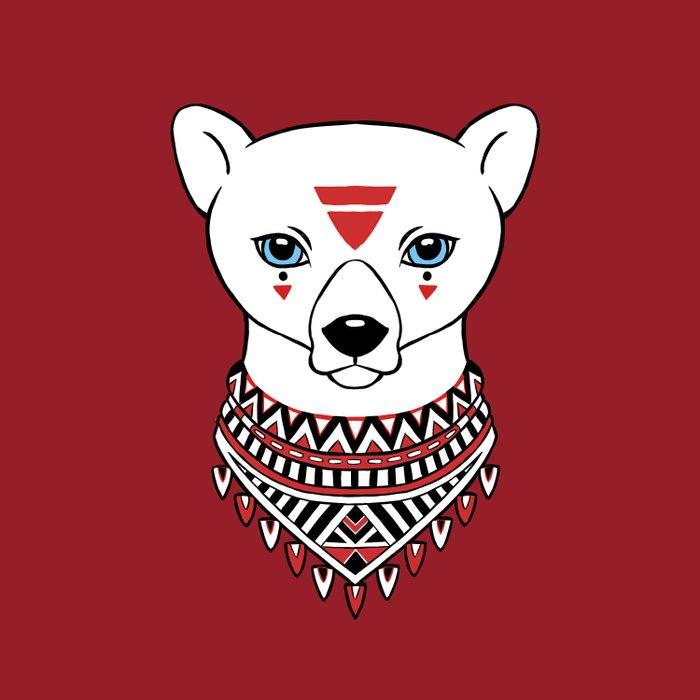 Tribal Bear Duvet Cover