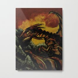 Fire on the Rocks Metal Print