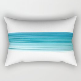 Turquoise Sea Stripe Rectangular Pillow