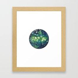 geometric galaxy 2 Framed Art Print