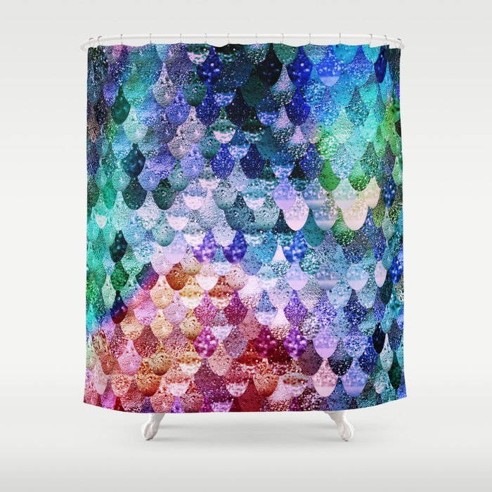 REALLY MERMAID FUNKY Shower Curtain by monikastrigel | Society6