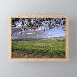 Stormy Day in the Vineyard Framed Mini Art Print