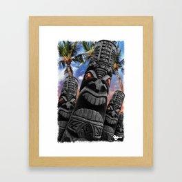 Angry Tiki Gods Framed Art Print