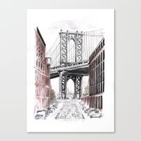 dumbo Canvas Prints featuring DUMBO by Margarita Zhdanova