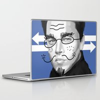 leonardo dicaprio Laptop & iPad Skins featuring Leonardo DiCaprio by Pazu Cheng