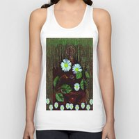 decorative Tank Tops featuring Gargoyle decorative by Pepita Selles