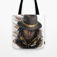 larry Tote Bags featuring Larry by NemiimeN