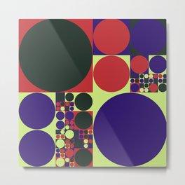 Squared Circles Metal Print