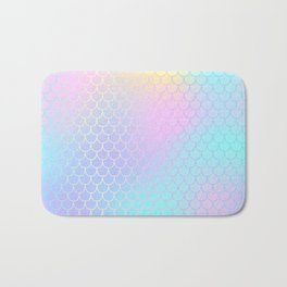 Rainbow Mermaid Abstraction Bath Mat