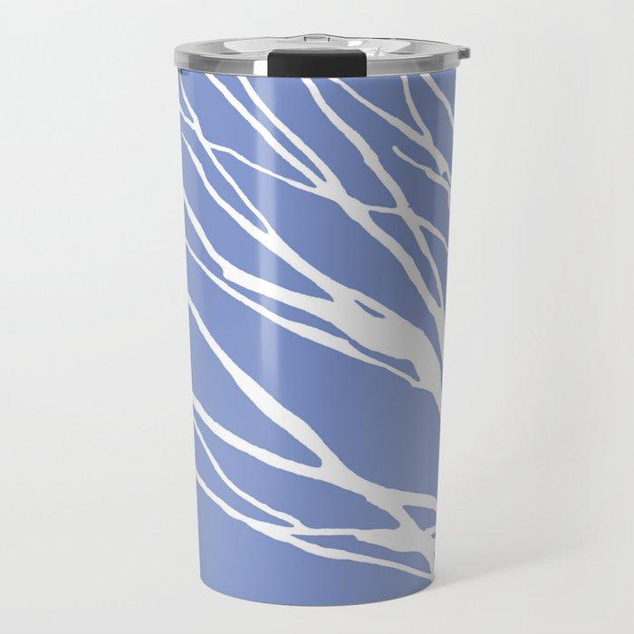 Tree Silhouette Periwinkle Blues Travel Mug
