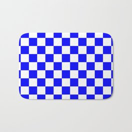 Checker (Blue/White) Bath Mat
