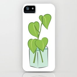 Plants in water bottles, colorful hand drawn illustration art iPhone Case