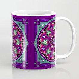 Boho Floral Crest Purple and Pink Coffee Mug