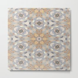 The Alamo Wall Kaleidoscope 6394 Metal Print