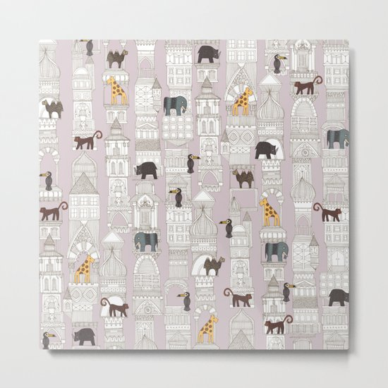 urban jungle blush pink Metal Print
