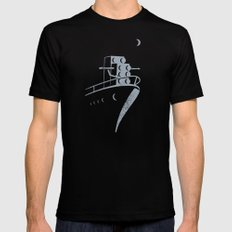 FLIGHT Black MEDIUM Mens Fitted Tee