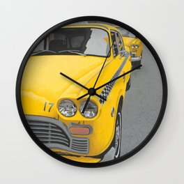 Taxi Stand version 2 Wall Clock