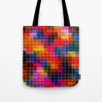 stained glass Tote Bags featuring Stained Glass by Stuff.