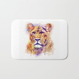 Lioness Head Bath Mat