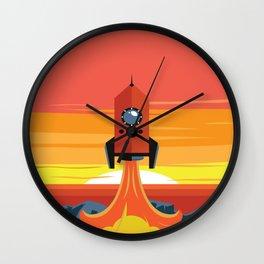 Deco Rocket Wall Clock