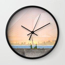 Greenpoint Sunset Wall Clock