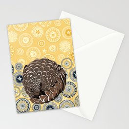 pangolin mandala sunshine Stationery Cards