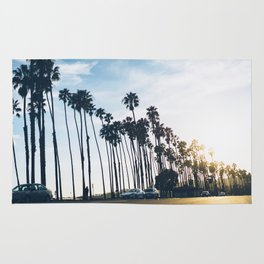 Sunsets and Palm Trees Rug