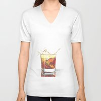 whiskey V-neck T-shirts featuring Whiskey by Giorgio Arcuri