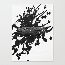 Helvetica 002 Canvas Print