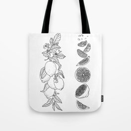 Citrus Branch of Lemons and Slices of Fruit Tote Bag