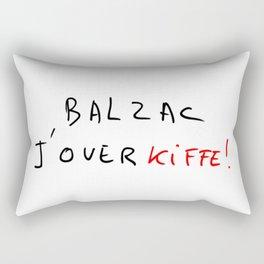 Balzac, j'overkiffe  Rectangular Pillow