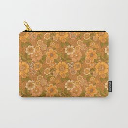Flower power soft Apricot Carry-All Pouch