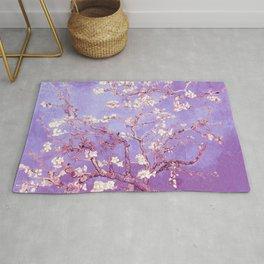 Van Gogh Almond Blossoms Orchid Purple Rug