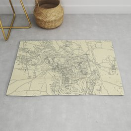 Vintage Map of Jerusalem Israel (1917) Rug