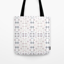 Dots, dots and more dots - blue & brown pastel colors Tote Bag